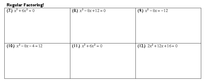 Completing the Square – Imaginary Number Worksheet