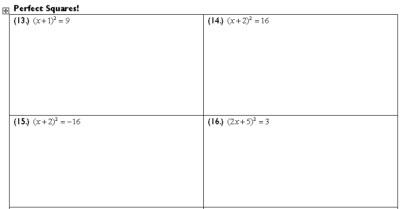 Completing the Square | Continuous Everywhere but Differentiable ...