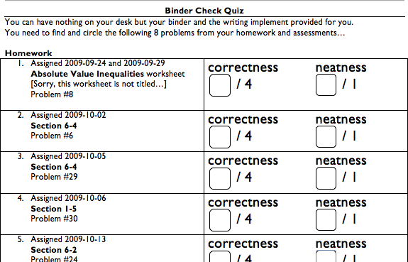 Binder Checks – Writing Checks Worksheet