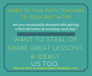 want to find math teachers to geek out with-